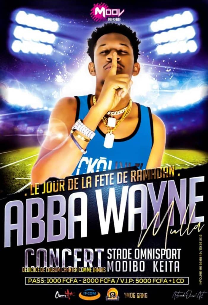 Abba Wayne en concert le jour de la fête de Ramadan au Stade Omnisports Modibo Kéïta