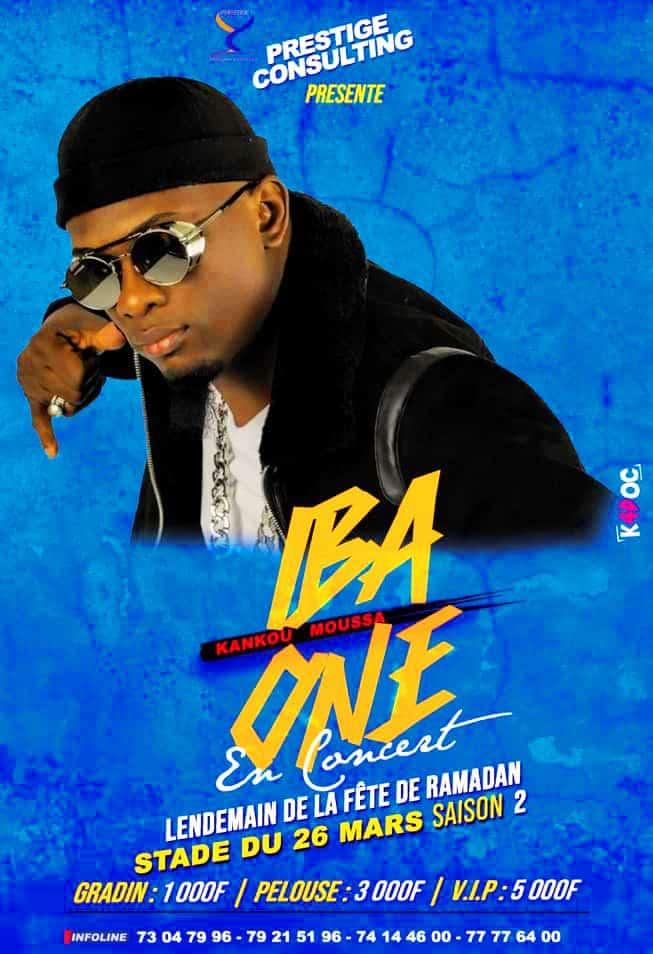 IBA ONE affiche concert STADE DU 26-MARS - Saison 2